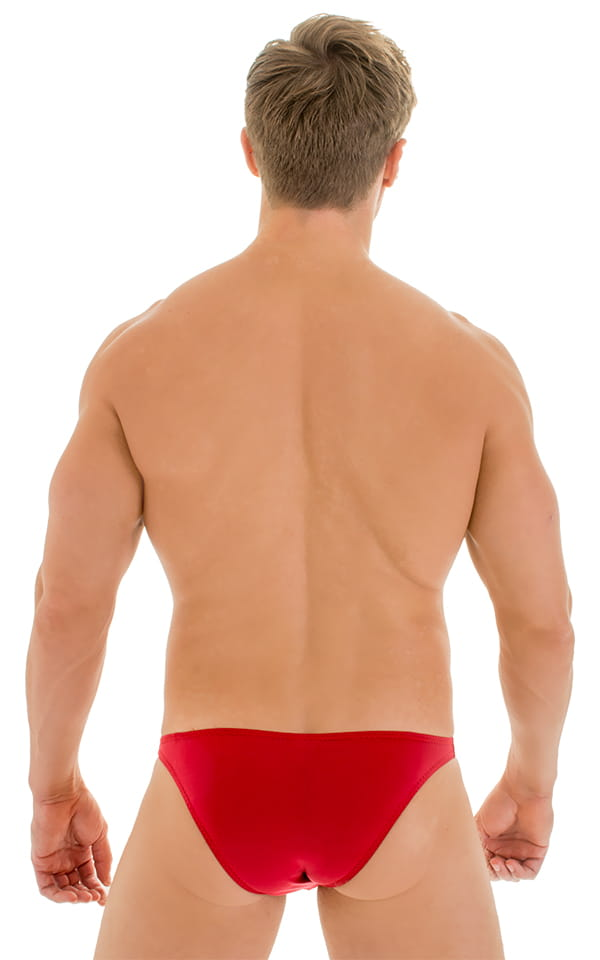 Enhancing Pouch Swim Brief in Red 3