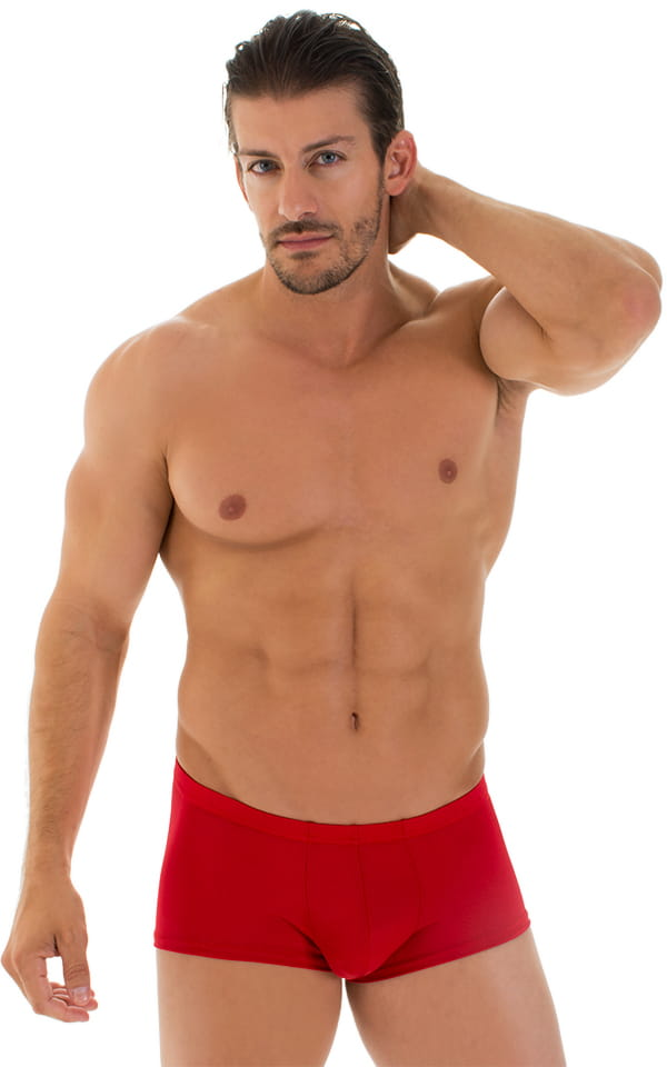 Fitted Pouch - Boxer - Swim Trunks in Red 1