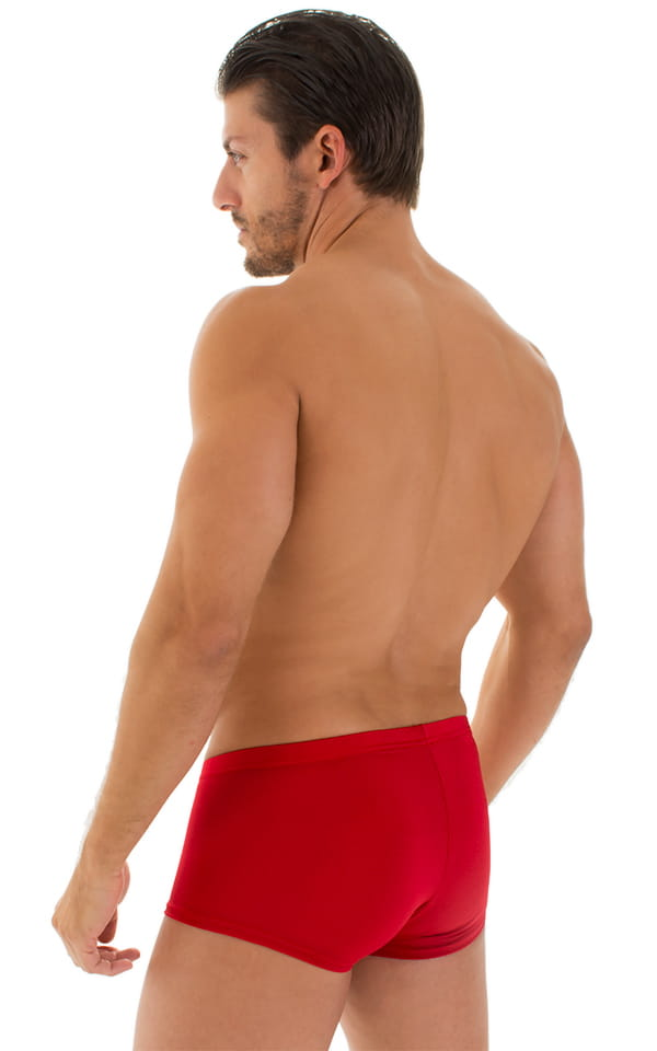 Fitted Pouch - Boxer - Swim Trunks in Red 3