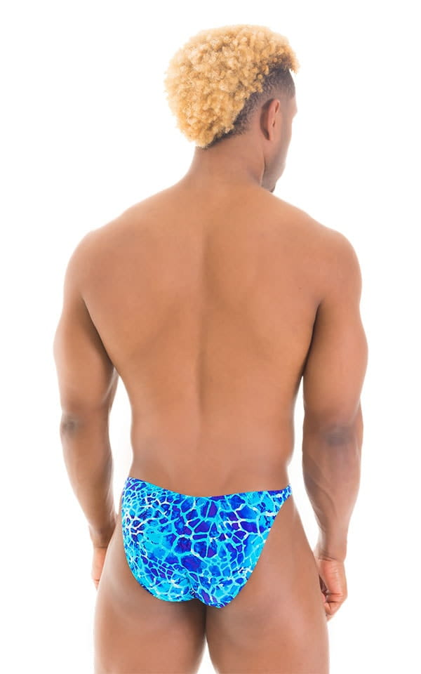 Fitted Bikini Bathing Suit in New World Blue 6