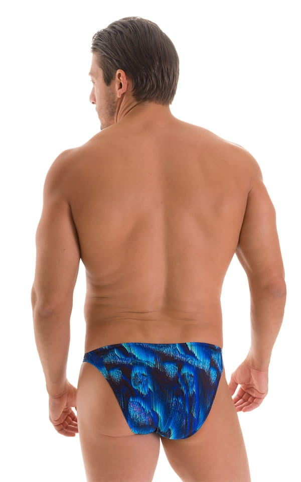 Stuffit Pouch Bikini Swimsuit in Digital Rush Blue 2