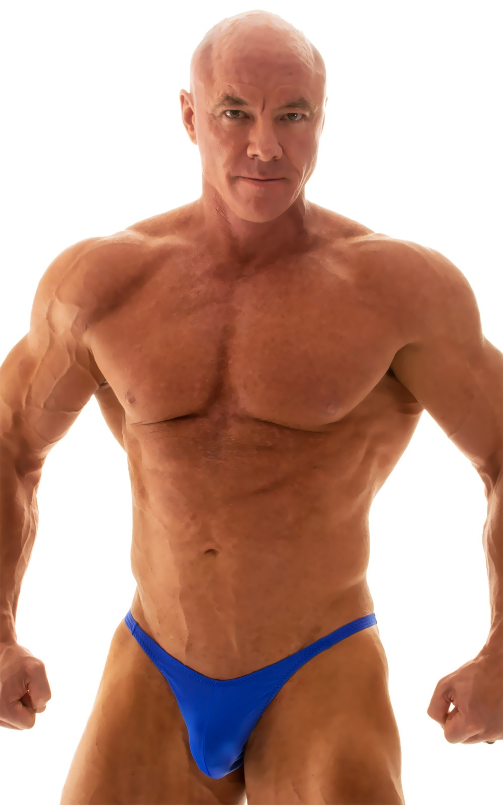 Fitted Pouch - Puckered Back - Posing Suit in Royal Blue 1