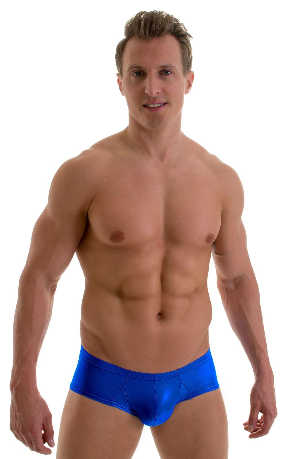 Pouch Enhanced Micro Swim Trunks in Royal Blue 1