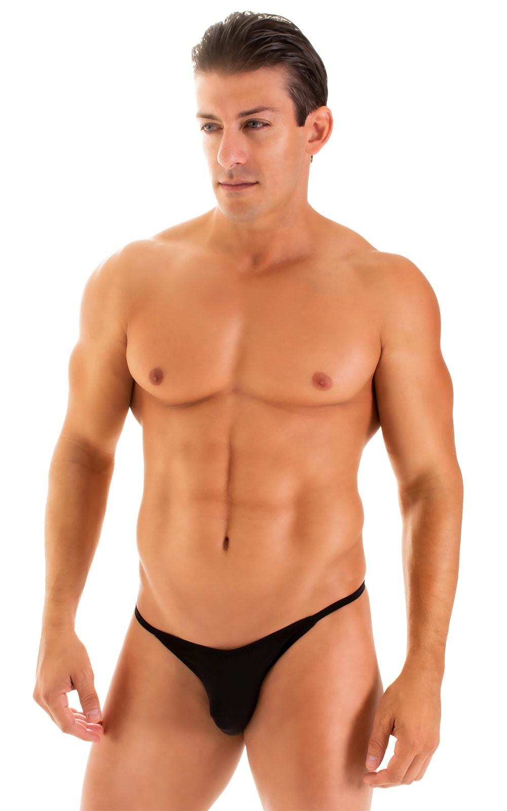 Super Low Brazilian Bikini in Super ThinSKINZ Black 1