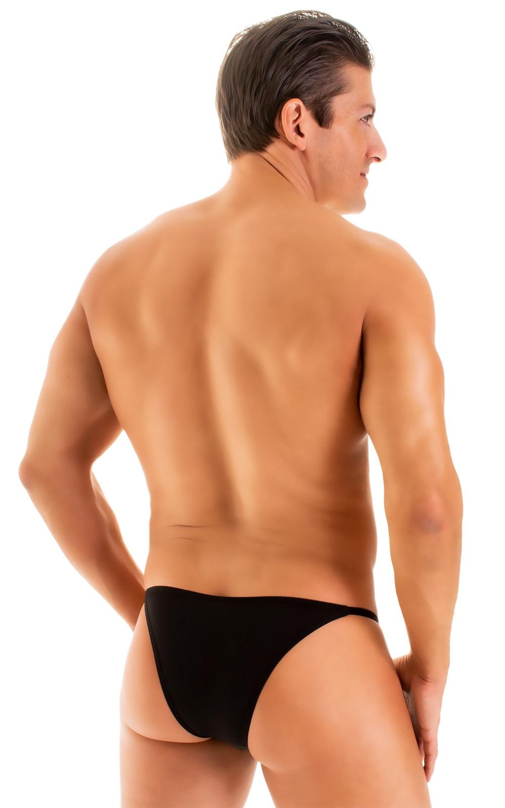 Super Low Brazilian Bikini in Super ThinSKINZ Black 3