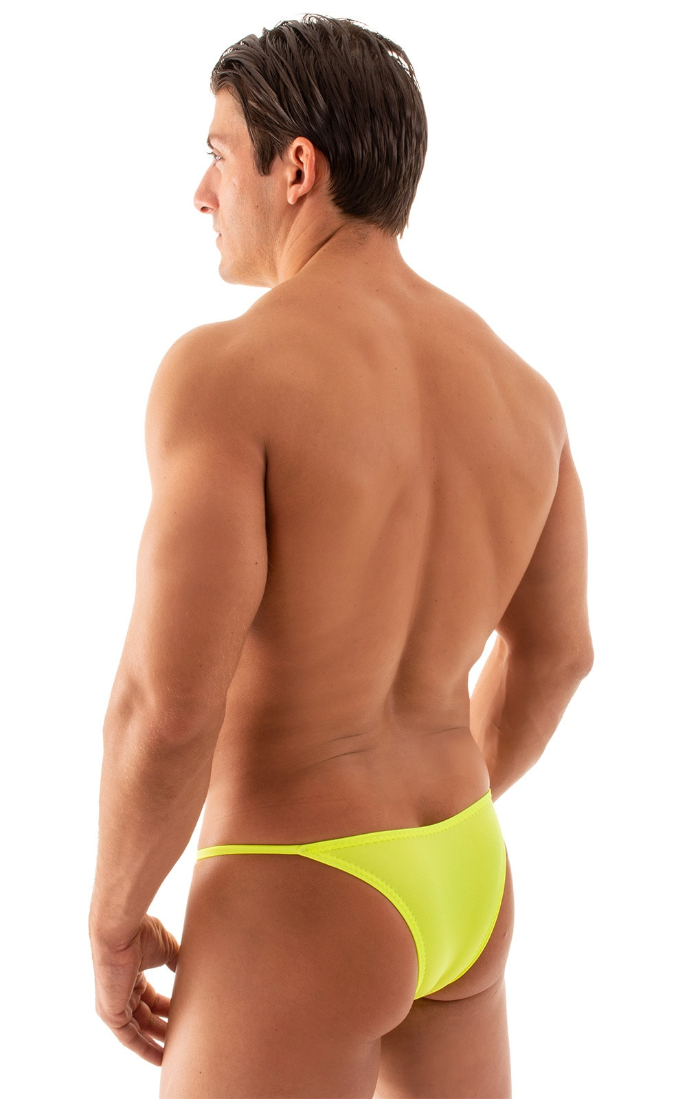 Super Low Brazilian Bikini in Chartreuse 3