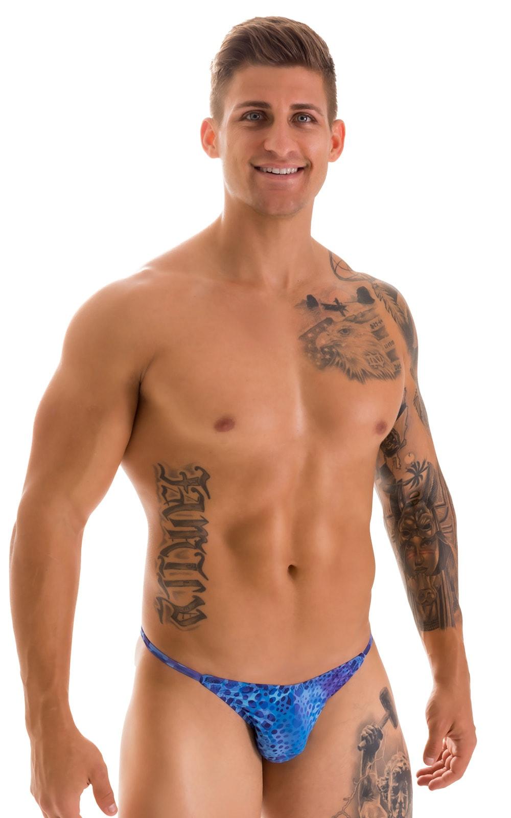 Super Low Brazilian Bikini in Super ThinSKINZ Deep Sea 1
