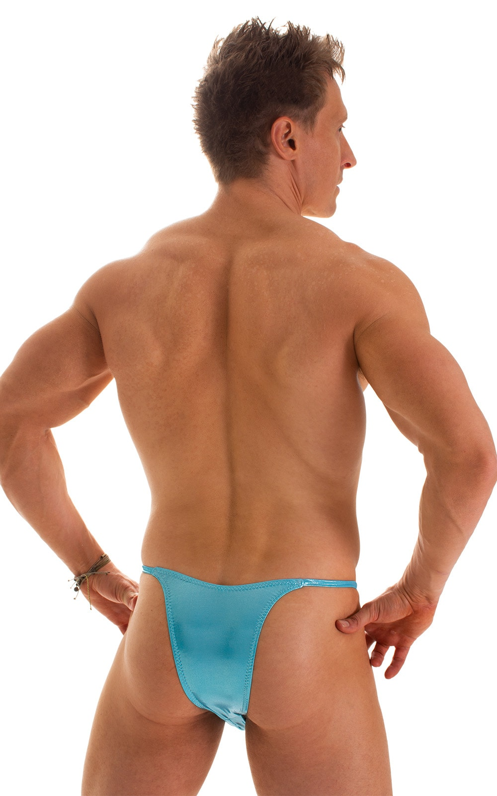 Sunseeker2 Tanning Swimsuit in Ice Karma Turquoise Shimmer 2