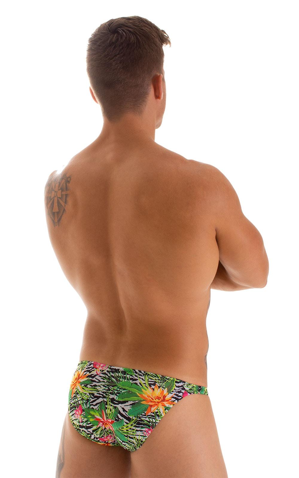 Stuffit Pouch Bikini Swimsuit in Super ThinSKINZ Exotic Tropics 2