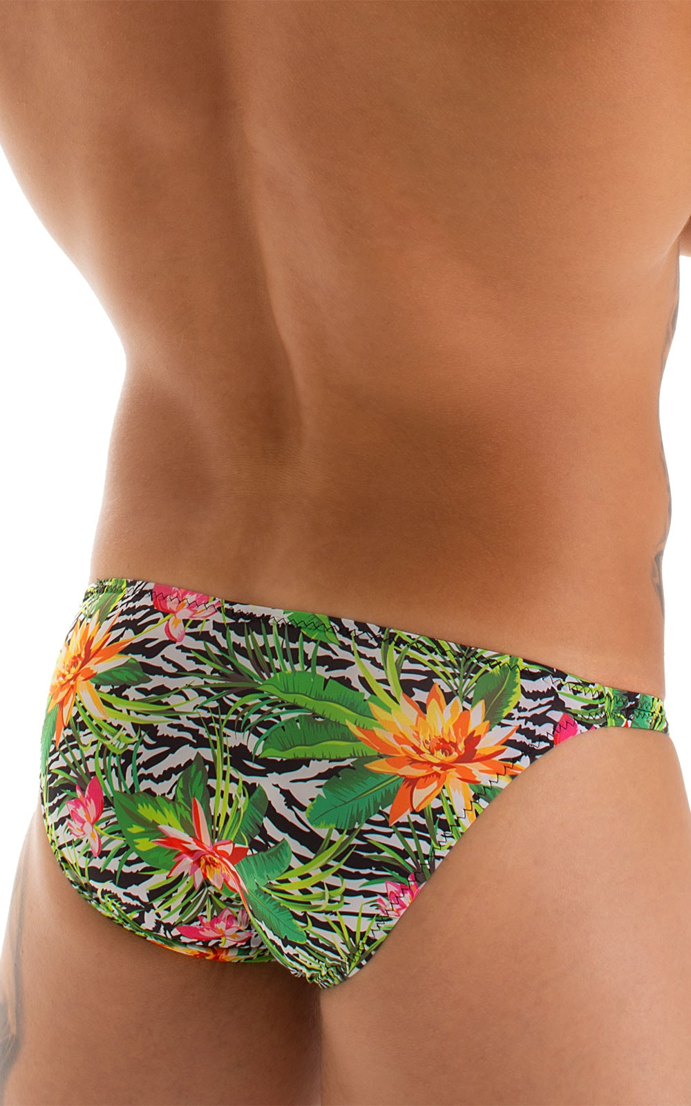 Stuffit Pouch Bikini Swimsuit in Super ThinSKINZ Exotic Tropics 4