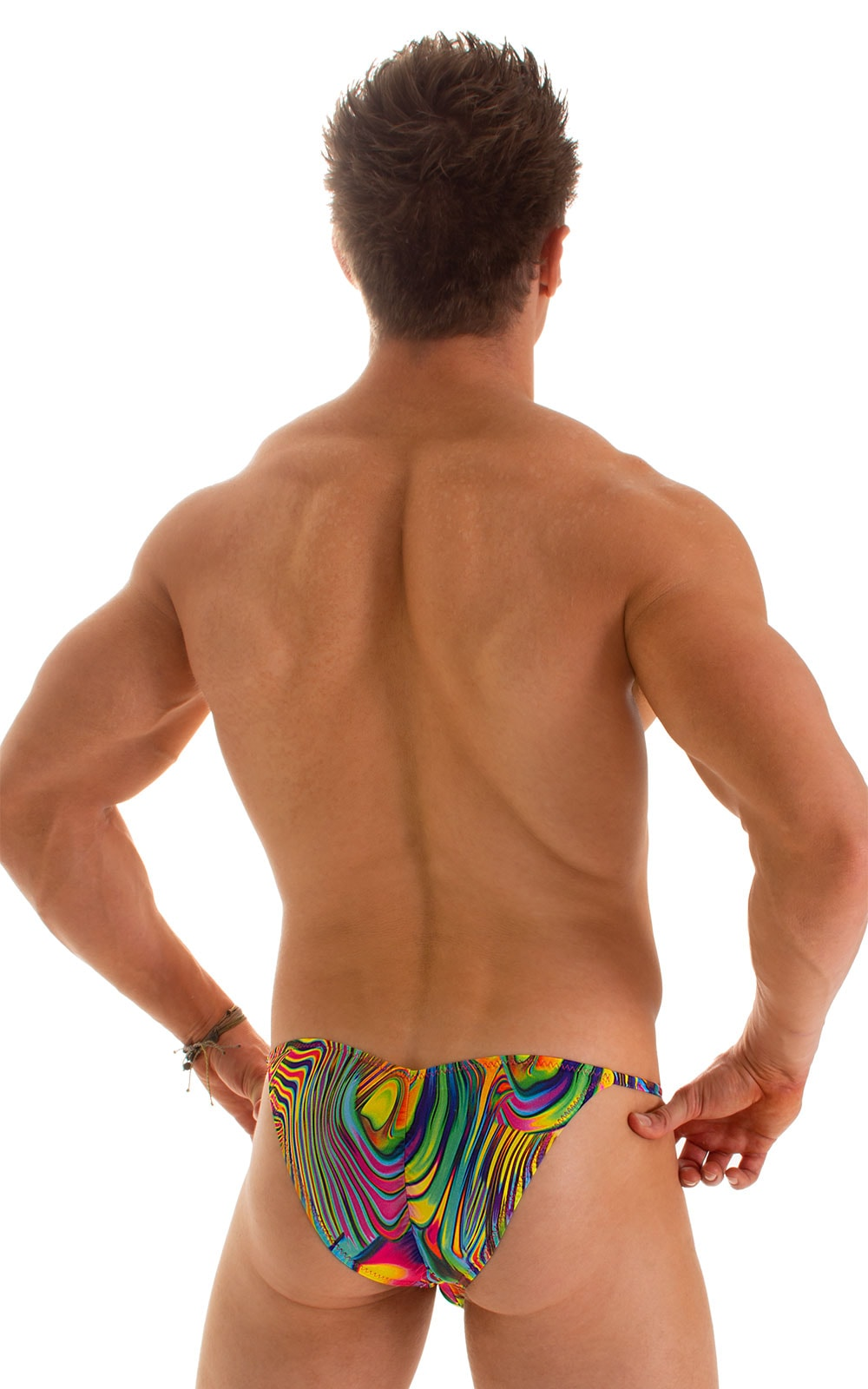 Micro Pouch - Puckered Back - Rio Bikini in ThinSkinz Neon Dali 2