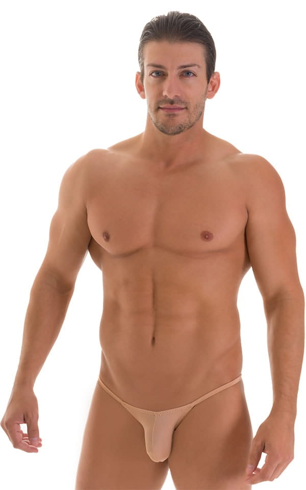 Stuffit Pouch Half Back Tanning Swimsuit in Super ThinSKINZ Nude 1
