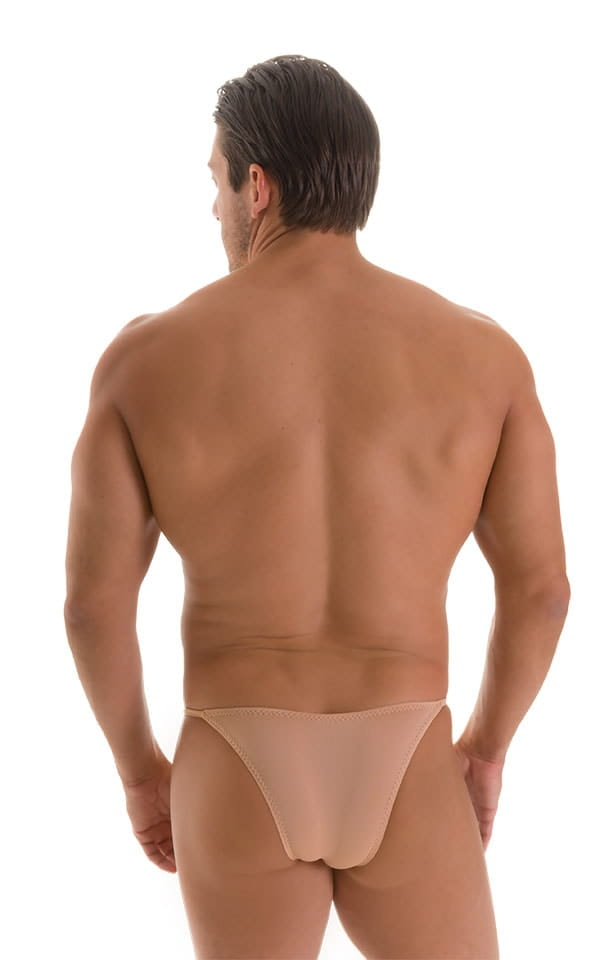 Stuffit Pouch Half Back Tanning Swimsuit in Super ThinSKINZ Nude 2