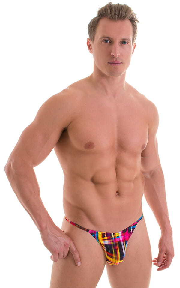 Sunseeker2 Tanning Swimsuit in ThinSKINZ Optic Plaid 1