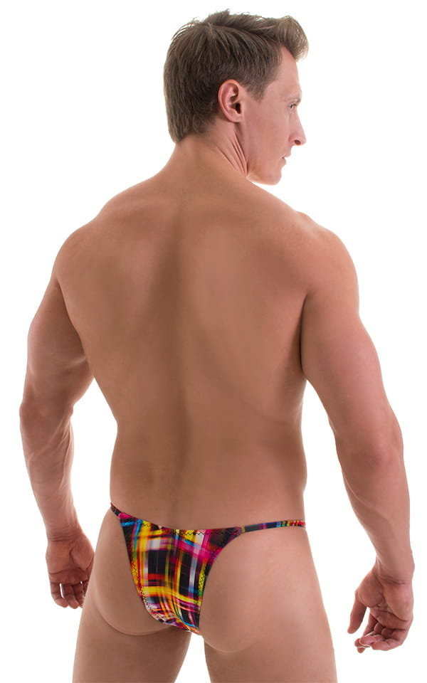 Sunseeker2 Tanning Swimsuit in ThinSKINZ Optic Plaid 3