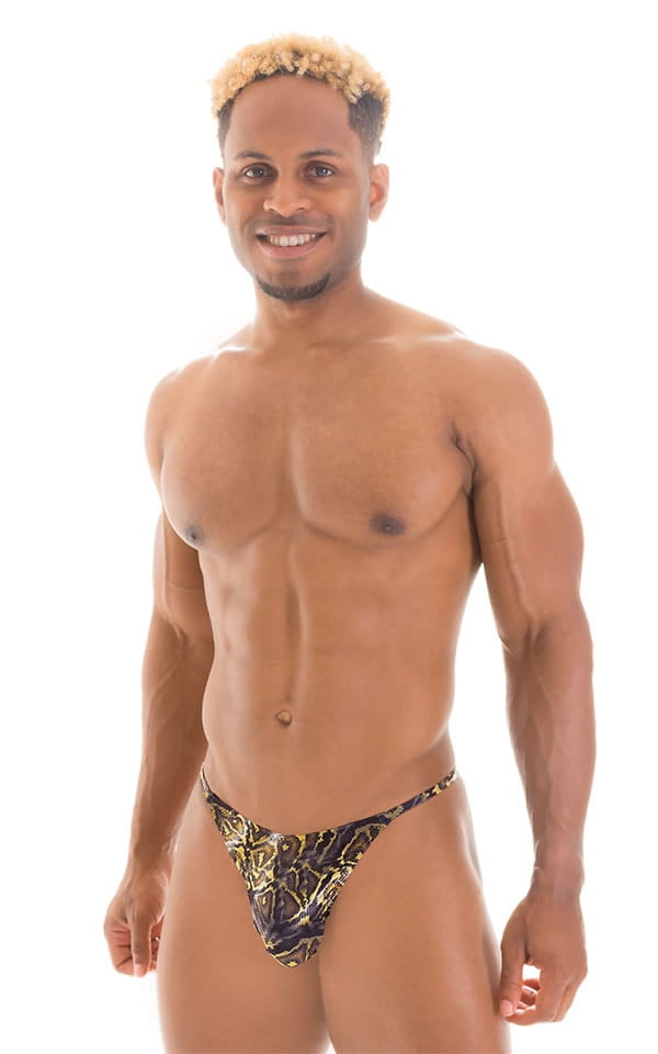 Sunseeker2 Tanning Swimsuit in Super ThinSKINZ Coiled Python 1