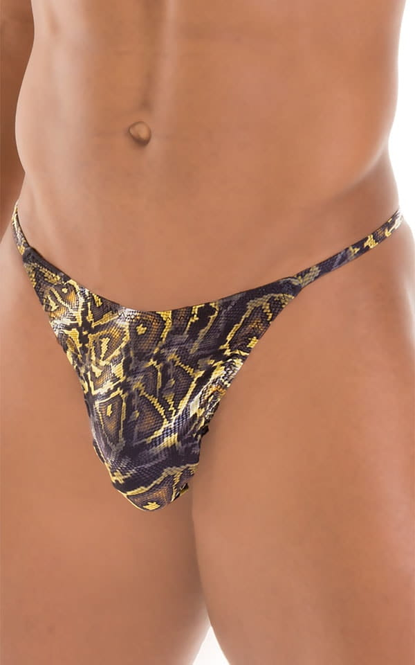Sunseeker2 Tanning Swimsuit in Super ThinSKINZ Coiled Python 4