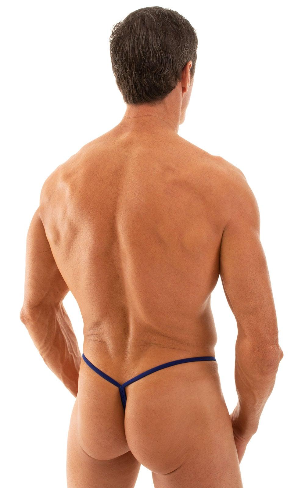 Y Back G String Swim Thong in Semi Sheer ThinSKINZ Royal Blue 3