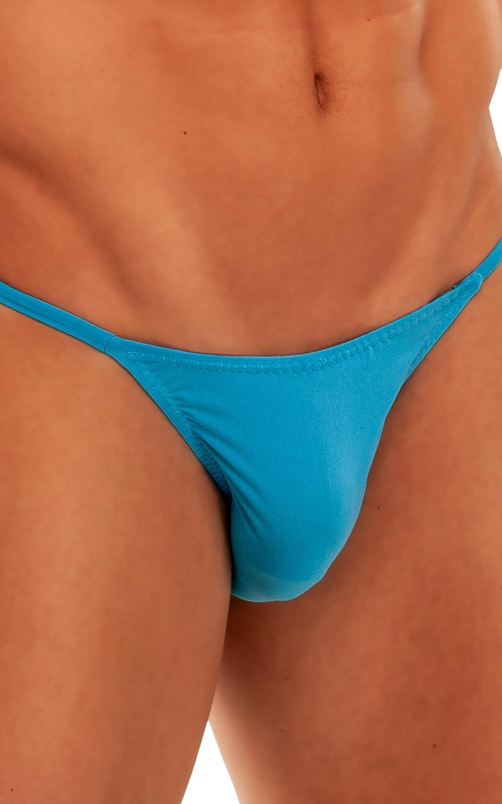 Super Low Brazilian Bikini in Semi Sheer ThinSkinz Sapphire 4