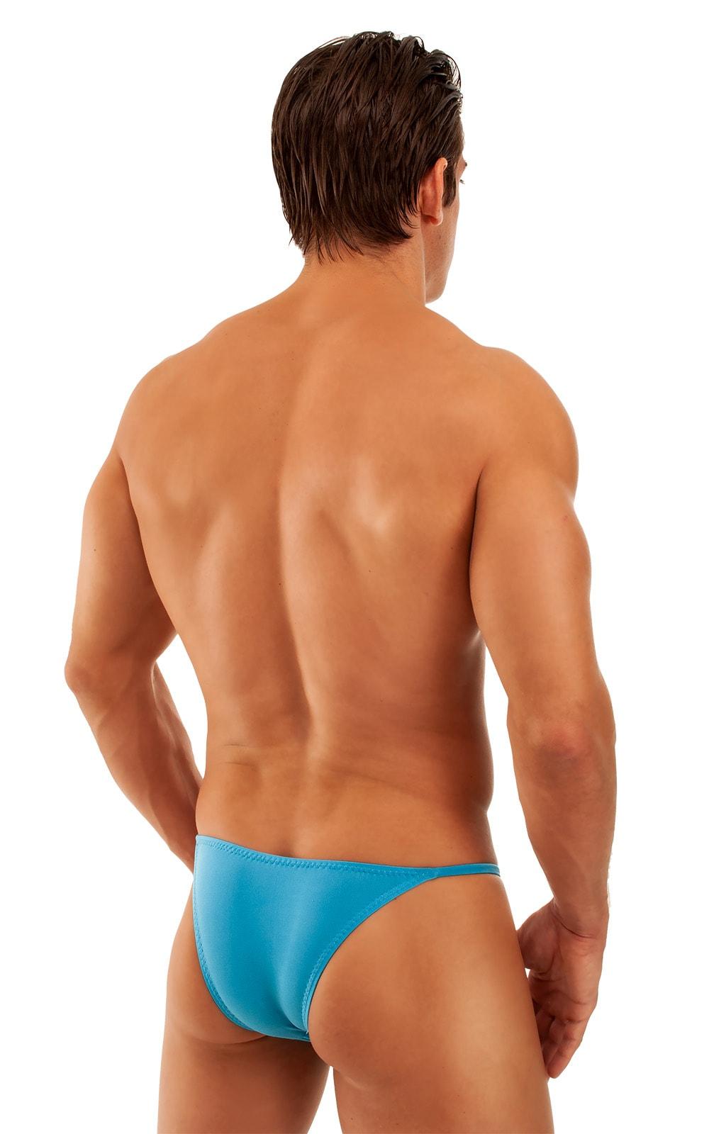 Super Low Brazilian Bikini in Semi Sheer ThinSKINZ Turquoise 3