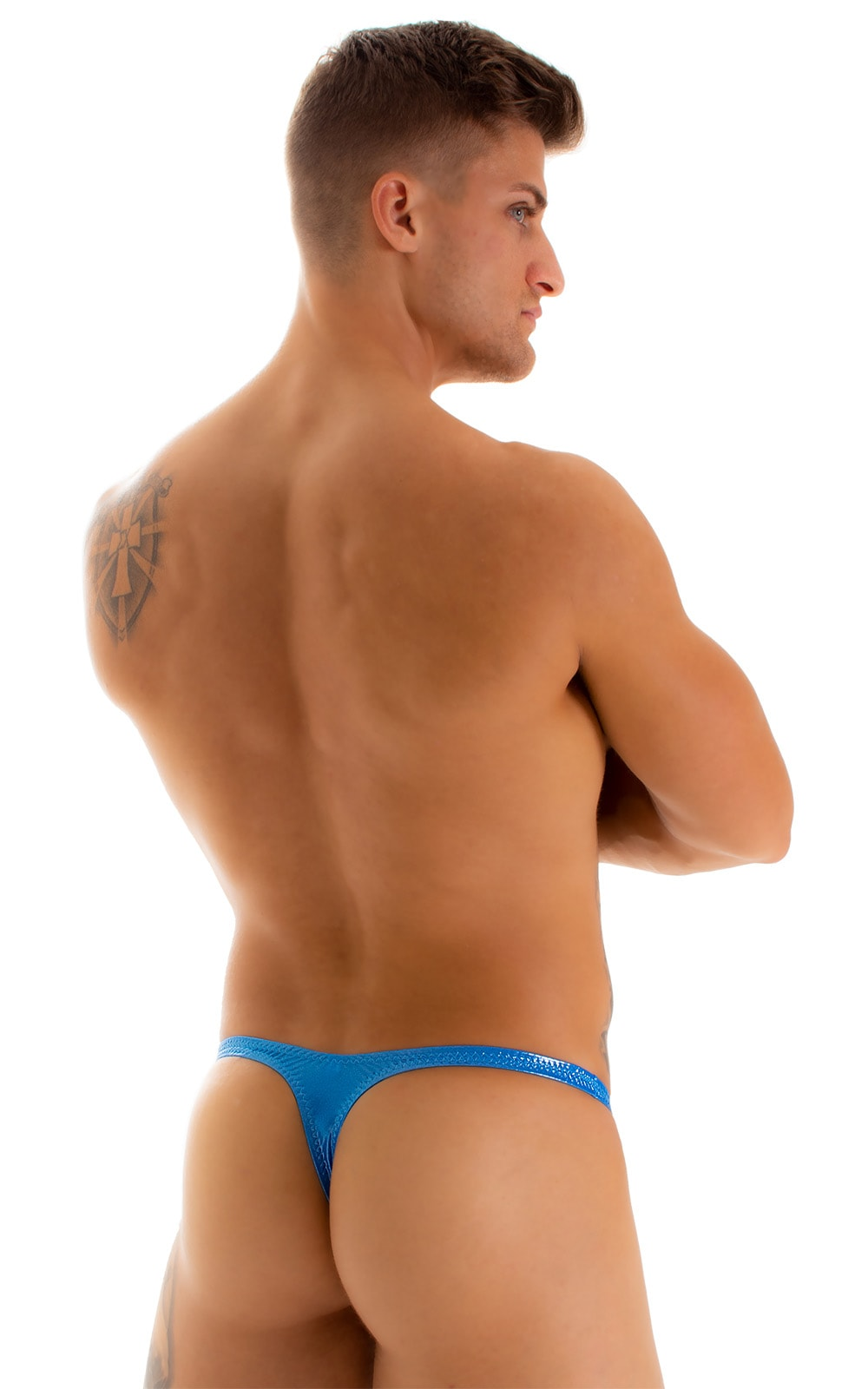 Stuffit Pouch Thong in Ice Karma Electric Blue 2