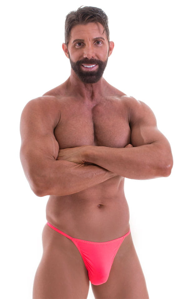 Y Back G String in ThinSKINZ Neon Coral 1