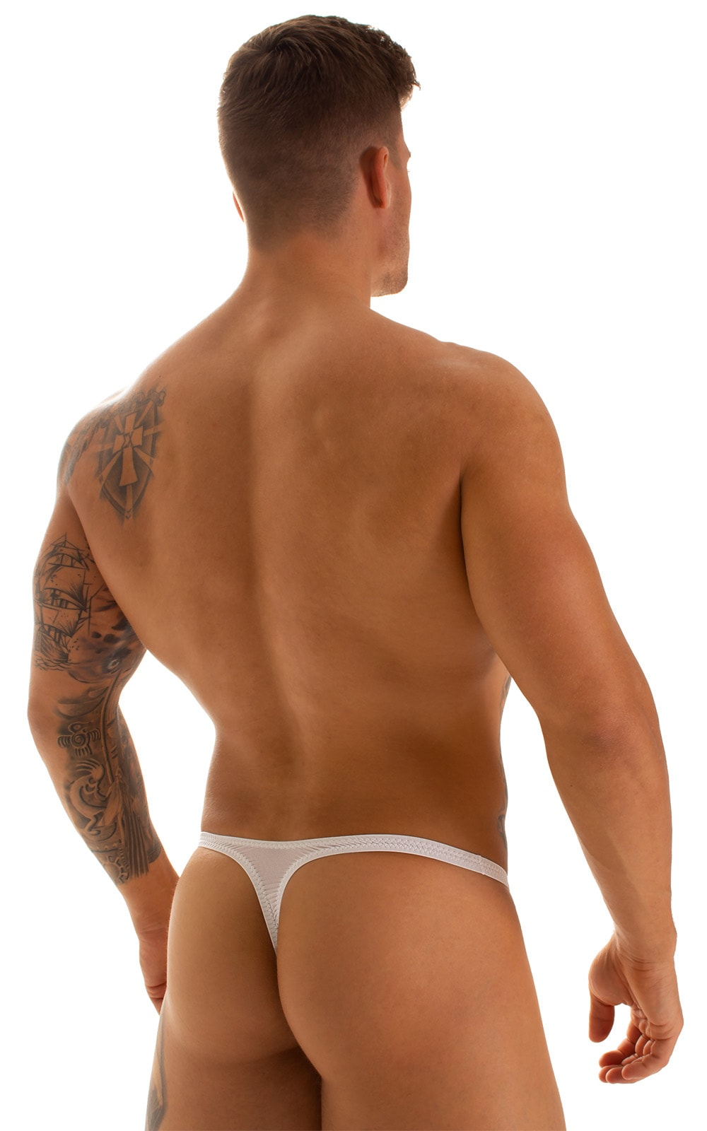 Quick Release Thong - Bravura Pouch in Super ThinSKINZ White 2