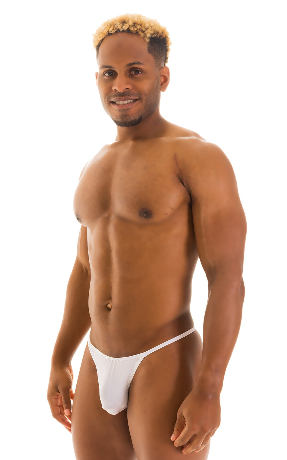 Y Back G String Thong in Super ThinSKINZ White 1