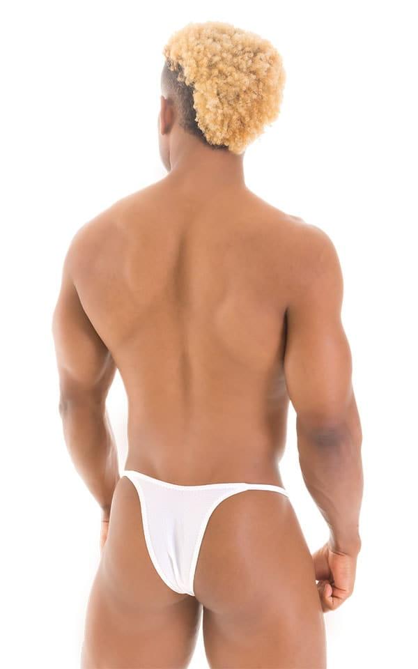 Sunseeker2 Tanning Swimsuit in Semi Sheer White Powernet 3