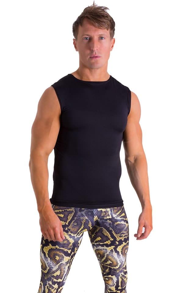Sleeveless Lycra Muscle Tee in Super ThinSKINZ Black 4