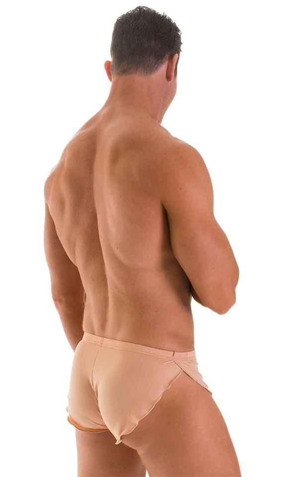Swimsuit Cover Up Split Running Shorts in Super ThinSKINZ Nude 2