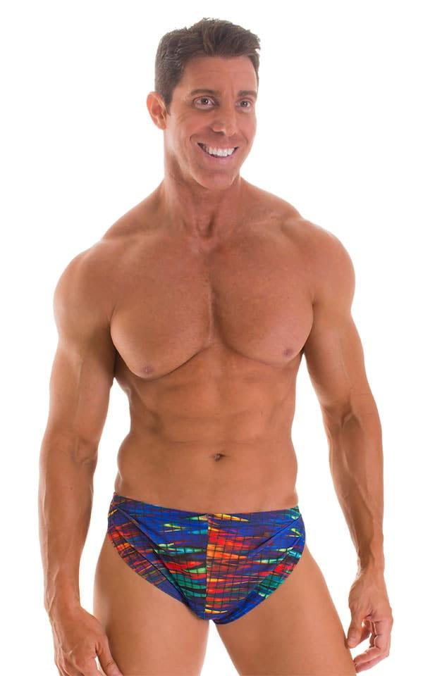 Swimsuit Cover Up Split Running Shorts in Tan Through Wavelength 1