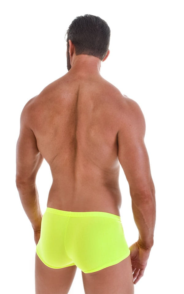 Fitted Pouch - Boxer - Swim Trunks in Neon Lime Yellow 3
