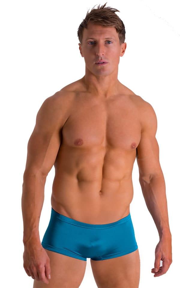 Extreme Low Square Cut Swim Trunks in Mallard 1