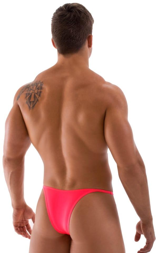 Sunseeker Micro Pouch Half Back Bikini in ThinSKINZ Neon Coral 3