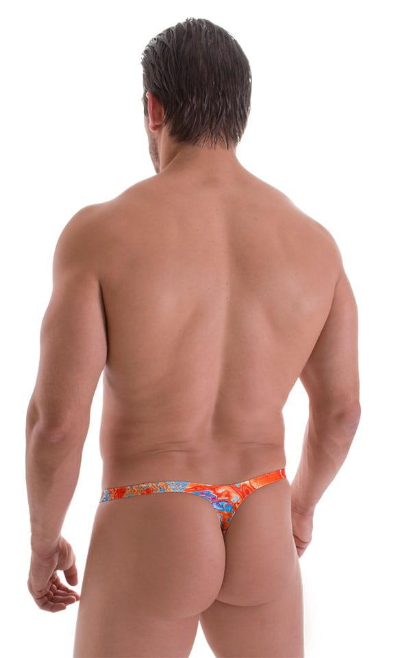 Stuffit Pouch Thong in Vapor Wave Orange 3