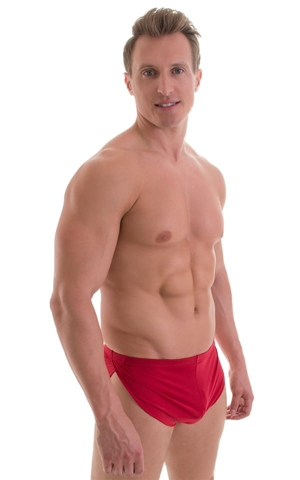 Swimsuit Cover Up Split Running Shorts in Red 1