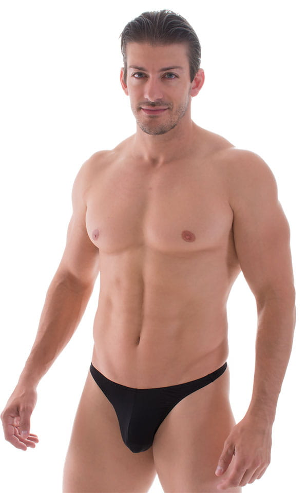 T Back Thong Swimsuit in Super ThinSkinz Black 1