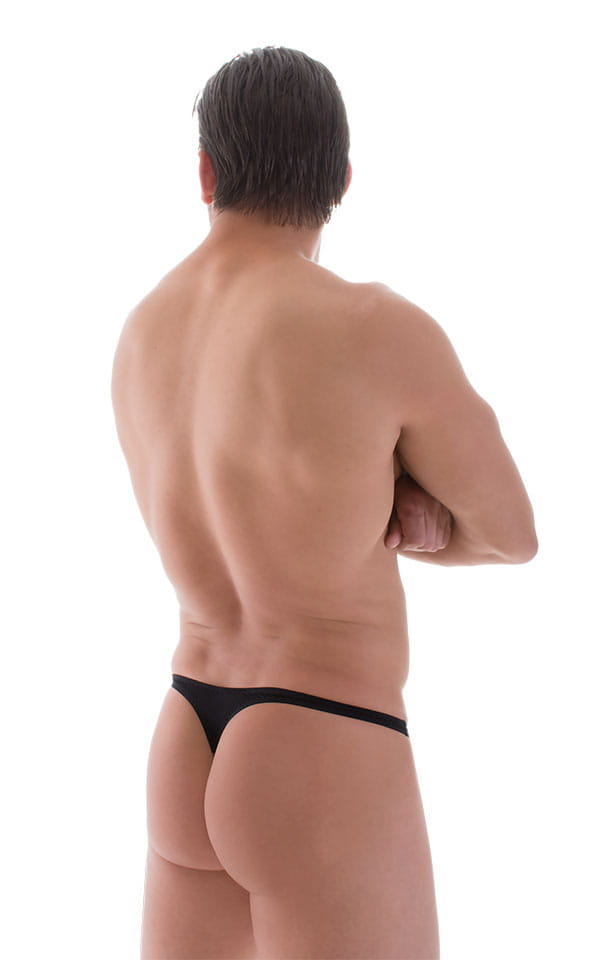 T Back Thong Swimsuit in Super ThinSkinz Black 3