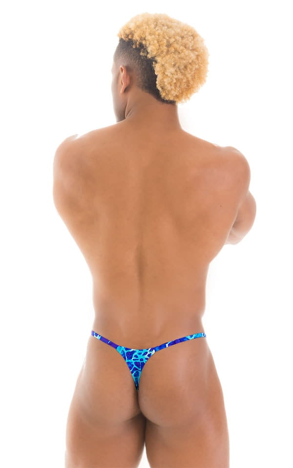 Smooth Pouch Skinny Sides Swim Thong in New World Blue 3