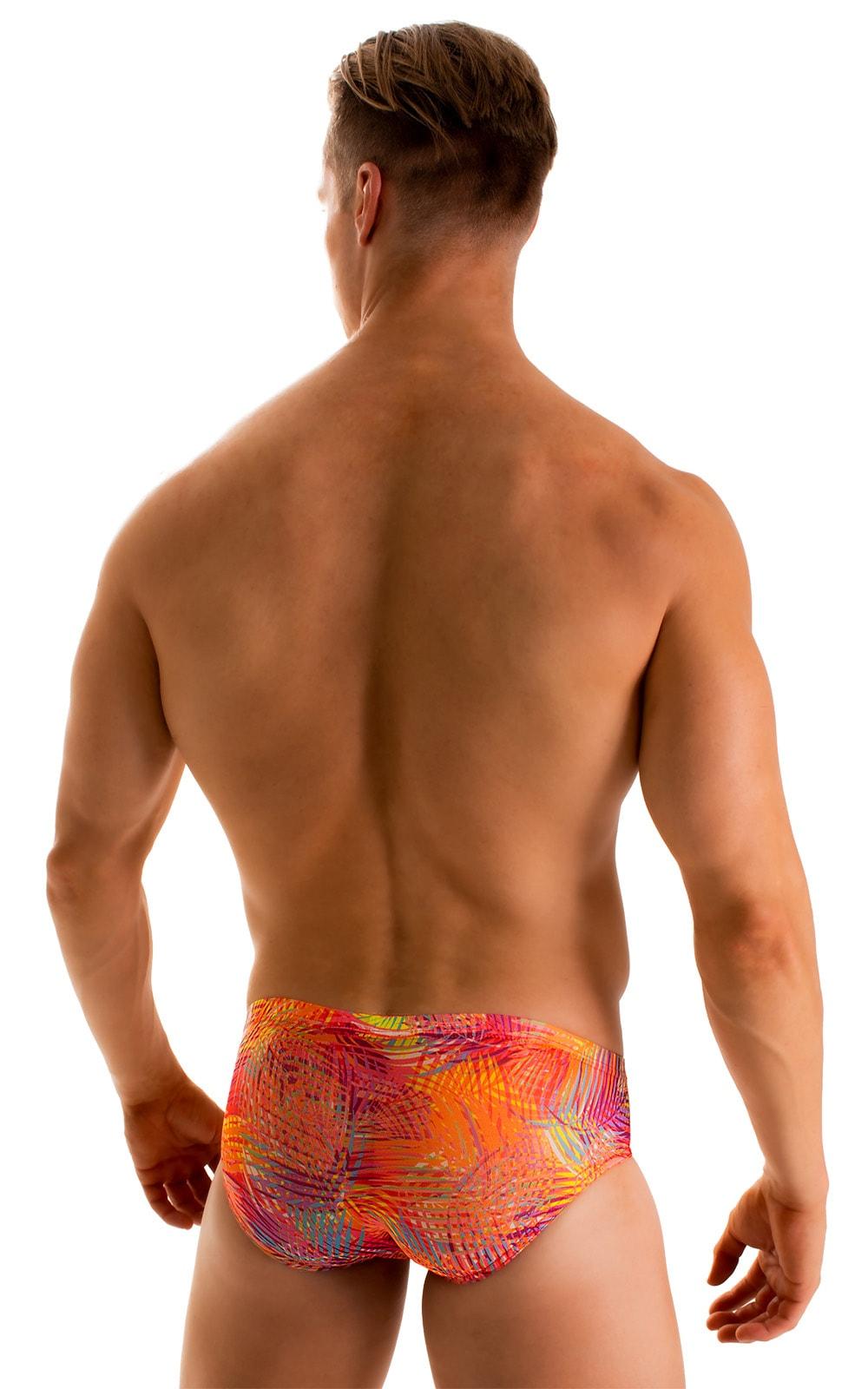 Pouch Brief Swimsuit in Tan Through Orange Jungle 2