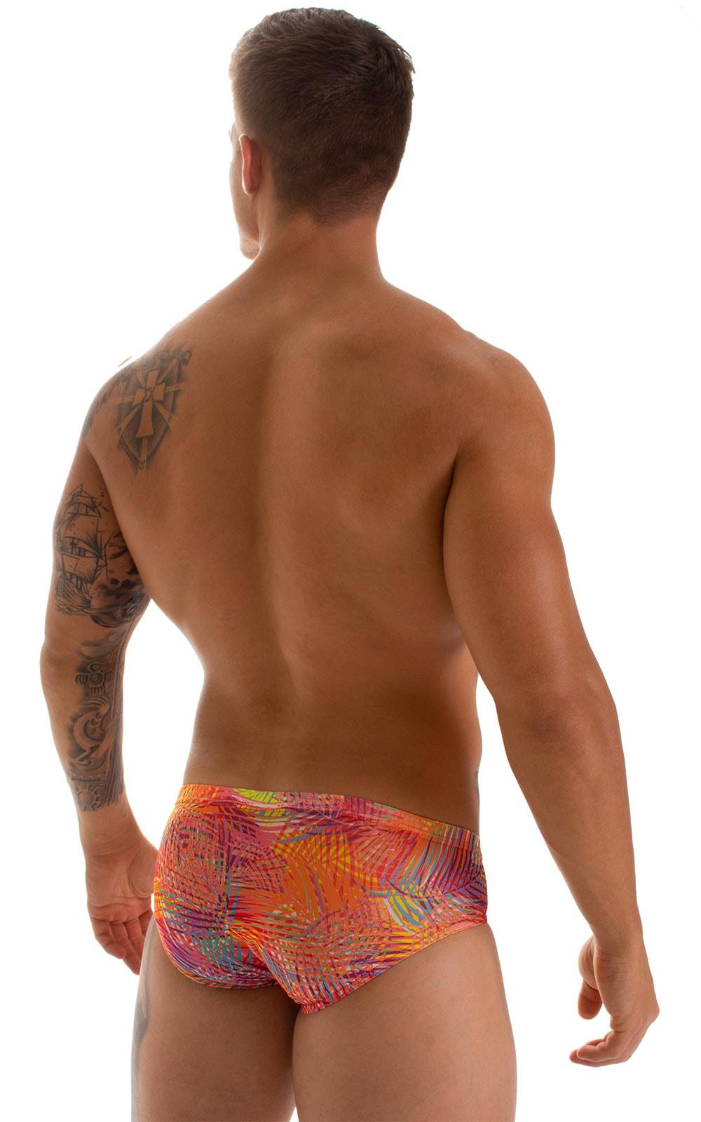 Pouch Brief Swimsuit in Tan Through Orange Jungle 5