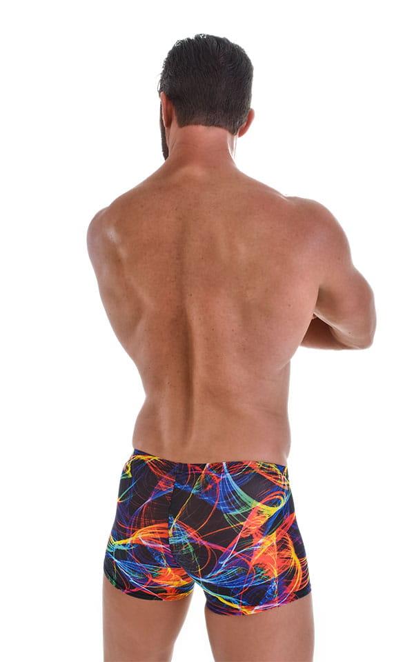 Square Cut Seamless Swim Trunks in Tan Through Rave Up 3