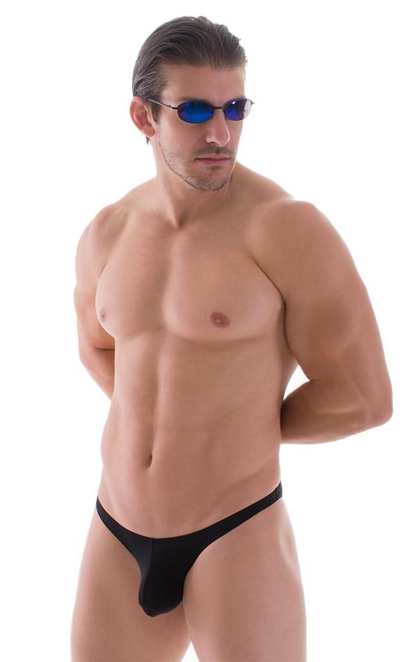 Tanga Cheekini Bikini in Super ThinSKINZ Black 1