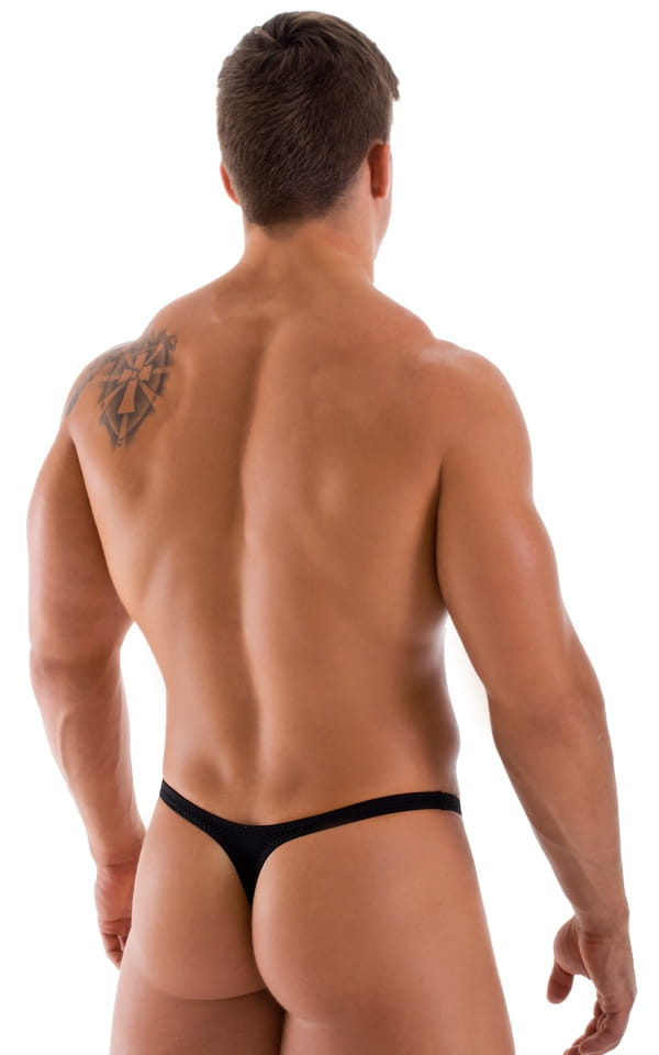 Stuffit Pouch Thong Back Swimsuit in ThinSKINZ Black 3