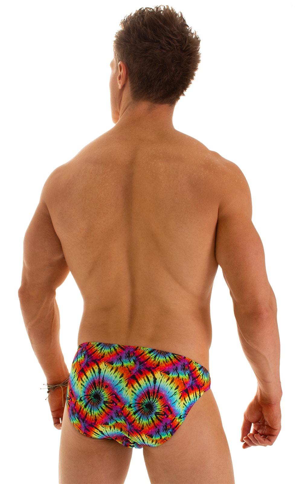 Bikini-Brief Swimsuit in Classic Tie Dye 2