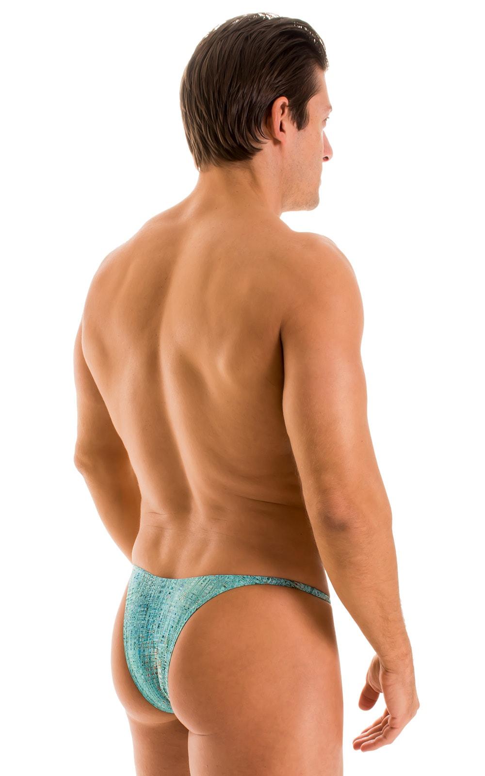 Sunseeker Micro Pouch Half Back Bikini in Super ThinSKINZ Seafoam Circuits 2