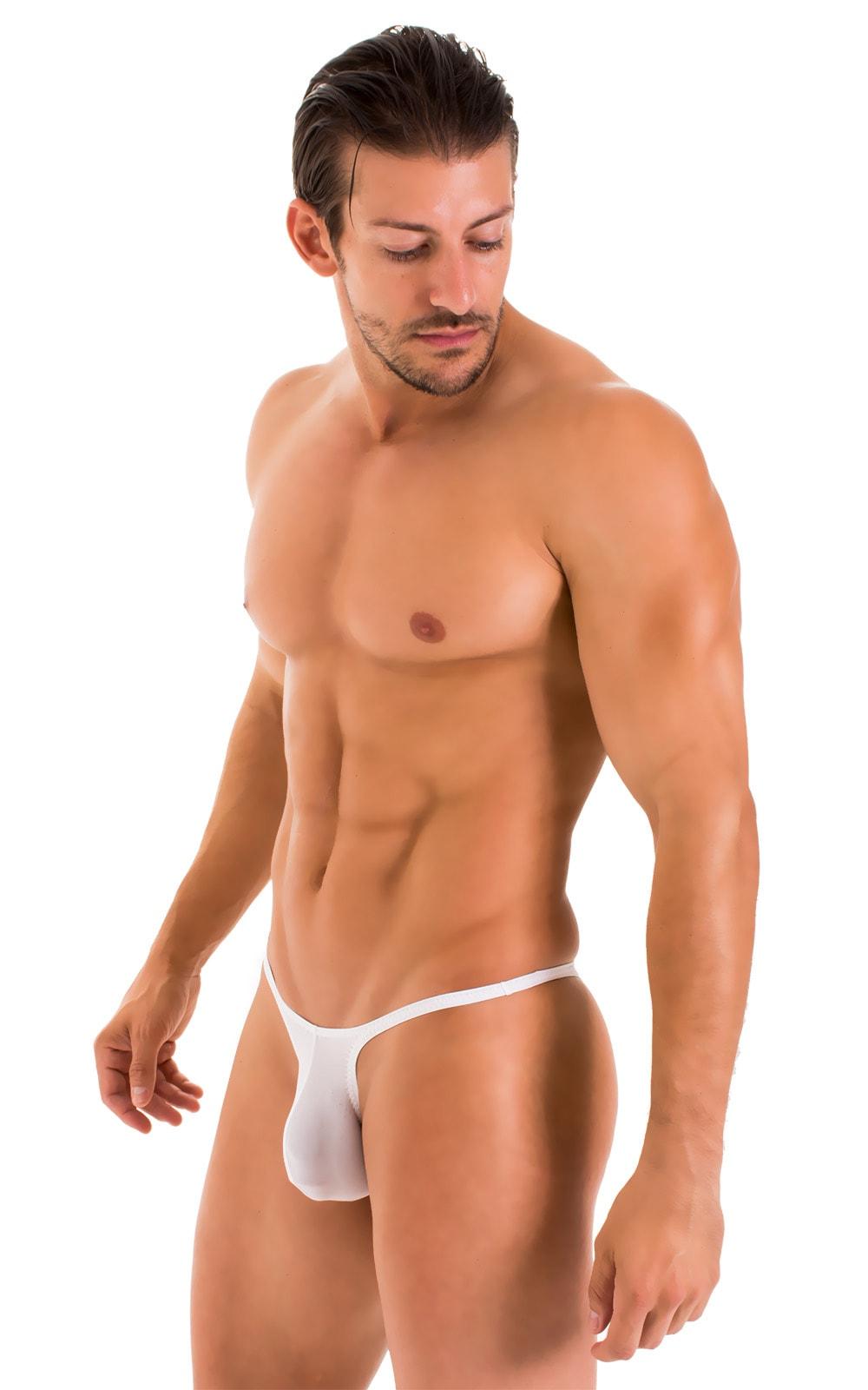 Sunseeker Micro Pouch Half Back Bikini in Super ThinSkinz White 1