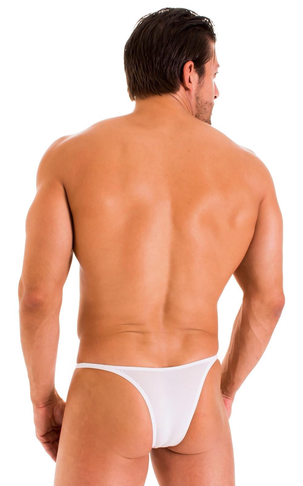Sunseeker Micro Pouch Half Back Bikini in Super ThinSKINZ White 3