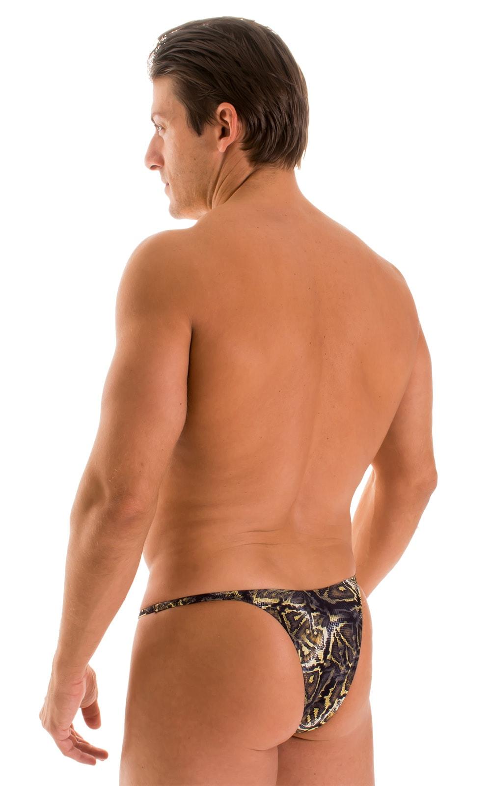 Sunseeker Micro Pouch Half Back Bikini in Super ThinSKINZ Coiled Python 2